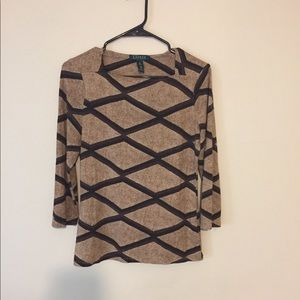 Ralph Lauren long sleeve pattern blouse